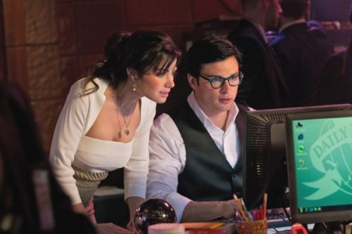 Lois Lane and Clark Kent in the TV show, Smallville