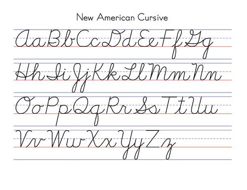 Worksheets Cursive A B C D Alphabet number names worksheets the abc in cursive free printable may 2014 philosophy by